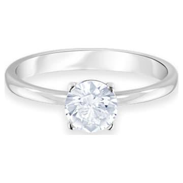 Attract Ring, weiss, Rhodiniert - Swarovski, 5368542