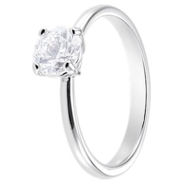 Δαχτυλίδι Attract, λευκό, επιροδιωμένο - Swarovski, 5368542