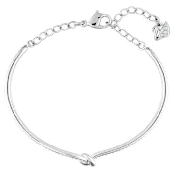 Lifelong-armband, Wit, Rodium-verguld - Swarovski, 5368552