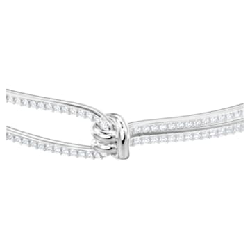 Bracciale rigido Lifelong, bianco, Placcatura rodio - Swarovski, 5368552