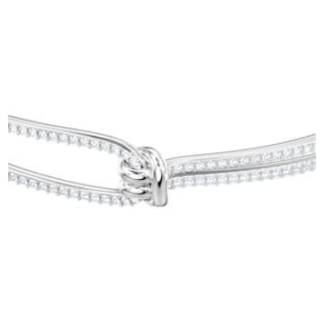 Bracelet-jonc Lifelong, blanc, Métal rhodié - Swarovski, 5368552