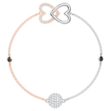 Swarovski Remix Collection Forever Strand, bianco, Mix di placcature - Swarovski, 5375199
