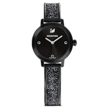 Cosmic Rock 腕表, 金属手链, 黑色, 黑色 PVD 电镀 - Swarovski, 5376071