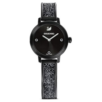 Cosmic Rock 워치, 메탈 브레이슬릿, 블랙, 블랙 PVD 플래팅 - Swarovski, 5376071