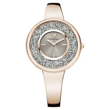 Crystalline Pure Uhr, Metallarmband, Champagne vergoldetes PVD-Finish - Swarovski, 5376077
