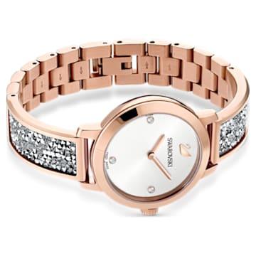 Cosmic Rock Uhr, Metallarmband, grau, Rosé vergoldetes PVD-Finish - Swarovski, 5376092