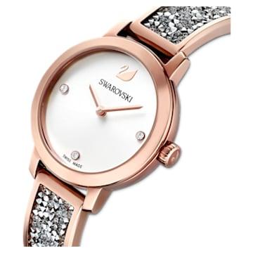 Cosmic Rock-horloge, Metalen armband, Grijs, Roségoudkleurig PVD - Swarovski, 5376092