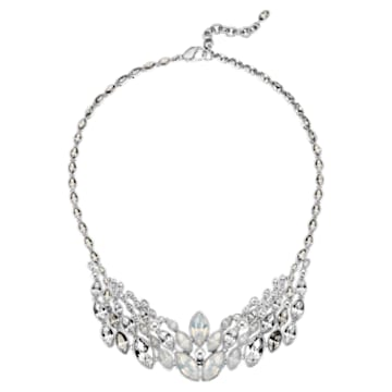 Atelier Swarovski Thalia Bridal Collection Necklace, Palladium plating - Swarovski, 5377174