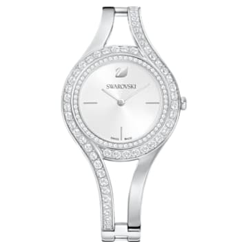 Eternal Watch, Metal bracelet, White, Stainless steel - Swarovski, 5377545