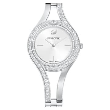 Zegarek Eternal, bransoleta z metalu, biały, stal nierdzewna - Swarovski, 5377545