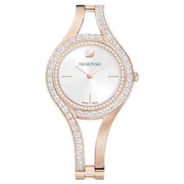 Eternal Часы, Металлический браслет, Белый Кристалл, PVD-покрытие золотого цвета оттенка шампанского - Swarovski, 5377563