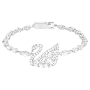 Swan Lake Bracelet, White, Rhodium plating - Swarovski, 5379947