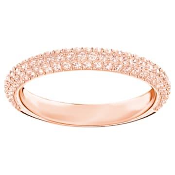 Prsten Stone, růžový, pozlacený růžovým zlatem - Swarovski, 5387567
