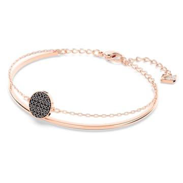Ginger-armband, Grijs, Roségoudkleurige toplaag - Swarovski, 5389046
