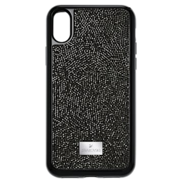 Glam Rock Smartphone Case with integrated Bumper, iPhone® X/XS, Black - Swarovski, 5392050