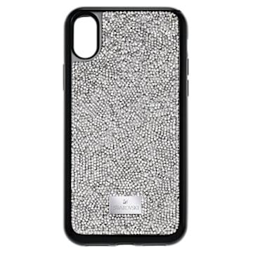 Custodia smartphone con bordi protettivi integrati Glam Rock, iPhone® X/XS, grigio - Swarovski, 5392053