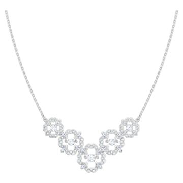 Collier Sparkling Dance Flower, blanc, Métal rhodié - Swarovski, 5397240