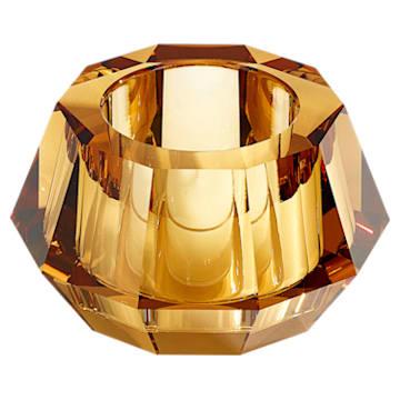 Lumen Round Candleholder, Gold tone - Swarovski, 5398497