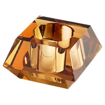 Lumen Square Candleholder, Gold tone - Swarovski, 5398637