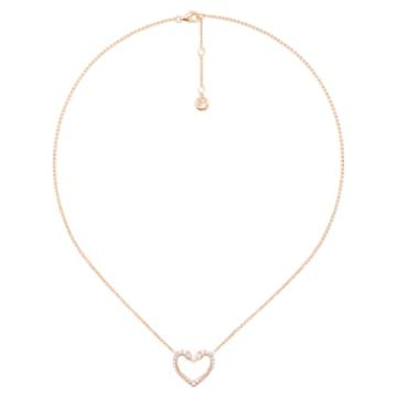 真爱之吻18K玫瑰金钻石项链 - Swarovski, 5401190