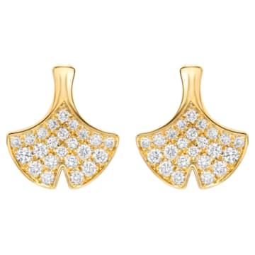 Lucky Gingko Stud Earrings - Swarovski, 5401195