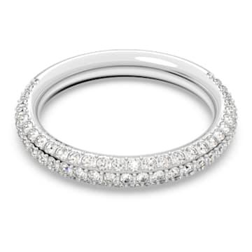 Stone Ring, White, Rhodium plated - Swarovski, 5402437