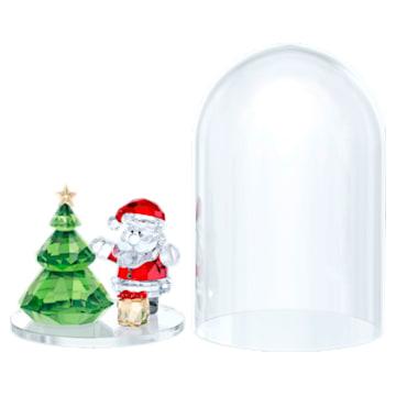 Clopot de sticlă - Bradul de Crăciun și Moș Crăciun - Swarovski, 5403170