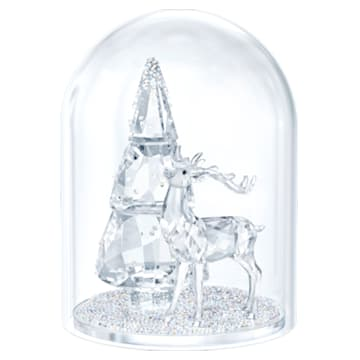 Sneeuwbol - Dennenboom en hert - Swarovski, 5403173