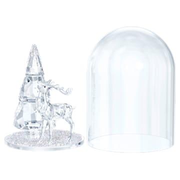 Clopot de sticlă - Pin și cerb - Swarovski, 5403173