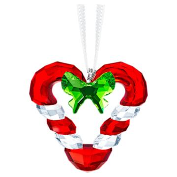 Decoración Corazón de Bastones de caramelo - Swarovski, 5403314