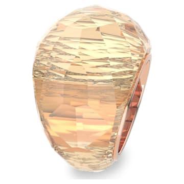 Prsten Swarovski Nirvana, zlatý odstín, pozlacený růžovým zlatem PVD - Swarovski, 5410328