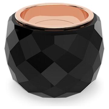 Swarovski Nirvana Yüzük, Siyah, Pembe altın rengi PVD - Swarovski, 5410336