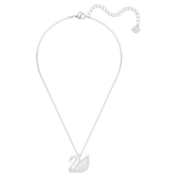 Swarovski Iconic Swan 鏈墜, 白色, 鍍白金色 - Swarovski, 5411791