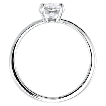 Attract 戒指, 白色, 鍍白金色 - Swarovski, 5412023