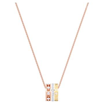 Admiration pendant, White, Mixed metal finish - Swarovski, 5412406