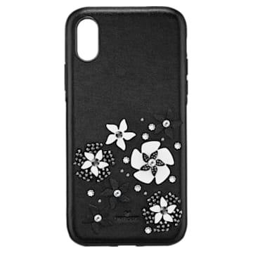 Coque rigide pour smartphone avec cadre amortisseur intégré Mazy, iPhone® X/XS, noir - Swarovski, 5413899