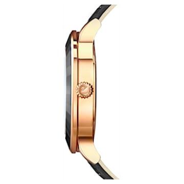 Octea Lux Часы, Кожаный ремешок, Черный Кристалл, PVD-покрытие оттенка розового золота - Swarovski, 5414410