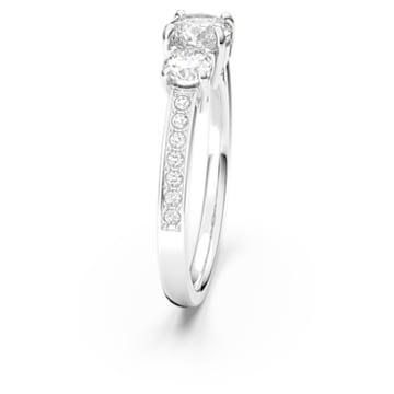 Attract Trilogy Ring, Rund, Weiss, Rhodiniert - Swarovski, 5414972