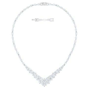 Louison Necklace, White, Rhodium plated - Swarovski, 5419234