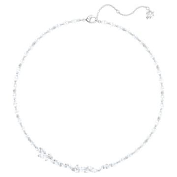 Louison-ketting, Wit, Rodium-verguld - Swarovski, 5419235
