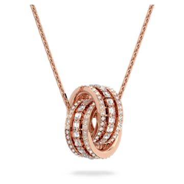 Further Подвеска, Белый Кристалл, Покрытие оттенка розового золота - Swarovski, 5419853