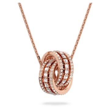 Further 链坠, 白色, 镀玫瑰金色调 - Swarovski, 5419853