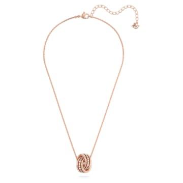Μενταγιόν Further, λευκό, επιχρυσωμένο σε χρυσή ροζ απόχρωση - Swarovski, 5419853