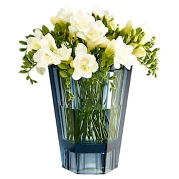 Vase réversible Lumen, large, bleu - Swarovski, 5421113