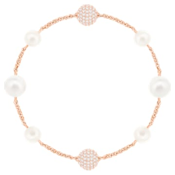 Swarovski Remix Collection Round Pearl Strand, bianco, Placcato oro rosa - Swarovski, 5421444