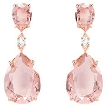 Boucles d'oreilles drop Vintage, rose, Métal doré rose - Swarovski, 5424361