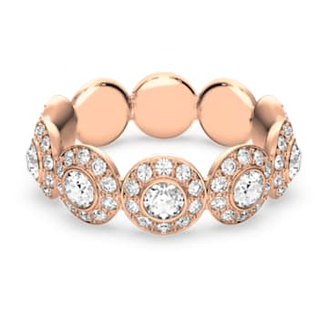 Angelic ring, Round, White, Rose gold-tone plated - Swarovski, 5424994