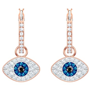 Créoles Swarovski Symbolic Evil Eye, bleu, métal doré rose - Swarovski, 5425857
