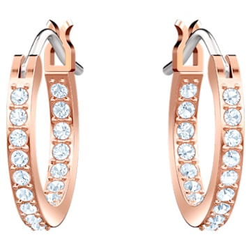 Swarovski Symbolic Evil Eye Hoop Pierced Earrings, Blue, Rose-gold tone plated - Swarovski, 5425857
