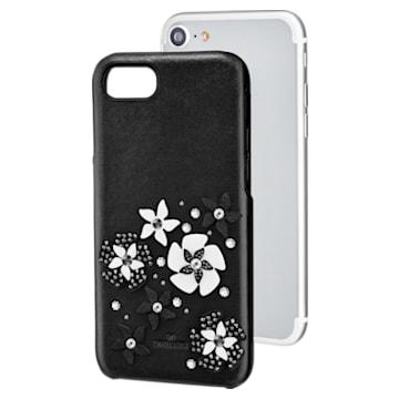 Coque rigide pour smartphone avec cadre amortisseur intégré Mazy, iPhone® 8, noir - Swarovski, 5427019